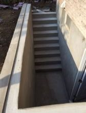 view of newly constructed steps
